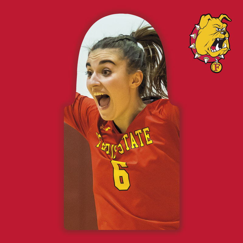 Volleyball Package : Ferris State Fan Cutout